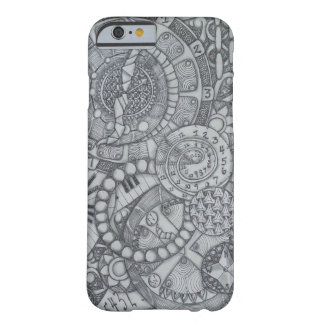 Steampunk Clock and Compass Zendoodle Barely There iPhone 6 Case