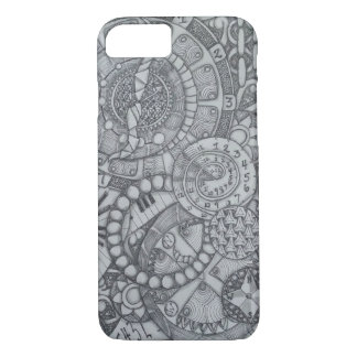 Steampunk Clock and Compass Zendoodle iPhone 8/7 Case