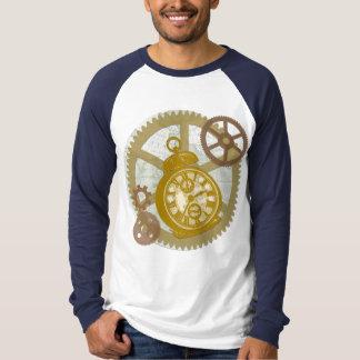 Steampunk Clock and Gears Tee Shirt