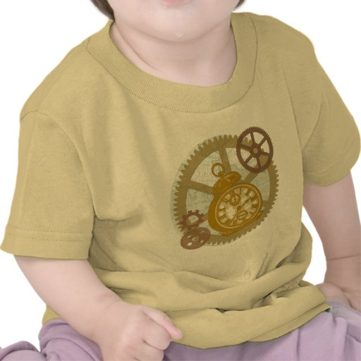 Steampunk Clock and Gears Shirts