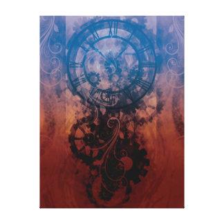 Steampunk Clock Canvas Print