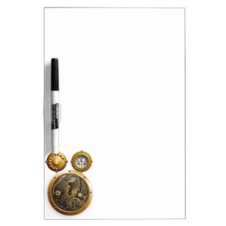 Steampunk clock Dry-Erase board