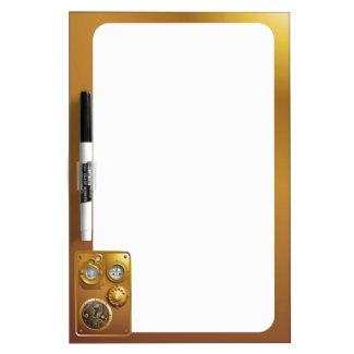 Steampunk clock Dry-Erase whiteboards