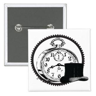 steampunk clock,gear,hat button