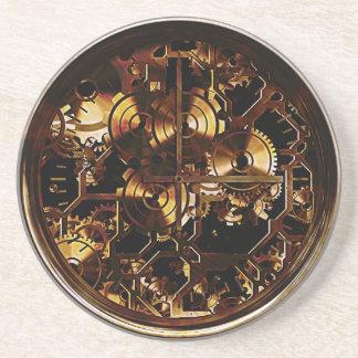 Steampunk Clock Gears Drink Coaster
