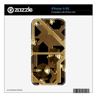 Steampunk Clock Gears Fun Electronic Skins Decals For The iPhone 4S