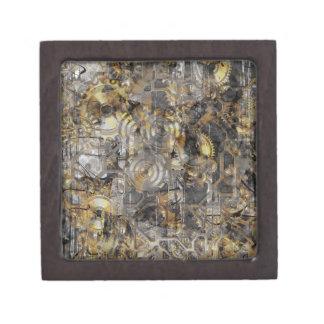 Steampunk Clock Gears Jewelry Box