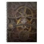 Steampunk Clock Gears Notebook