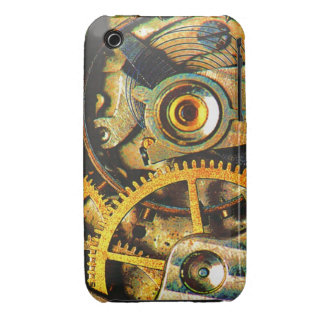 Steampunk Clock Gears Rusty Grungy Timepiece iPhone 3 Covers