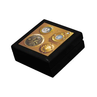 Steampunk clock gift box