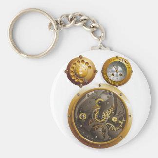 Steampunk clock key chain