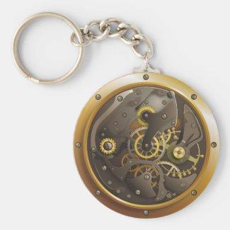 Steampunk clock keychains