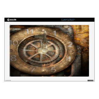Steampunk Clock Laptop Skin musicskins_skin