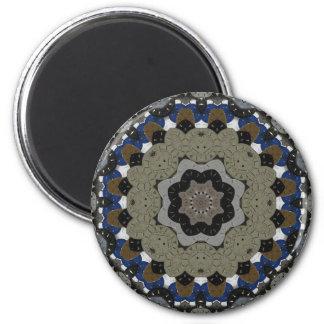 Steampunk Clock Mandala Magnet