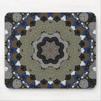 Steampunk Clock Mandala Mouse Pad