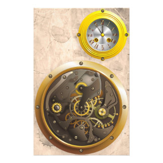 Steampunk clock stationery
