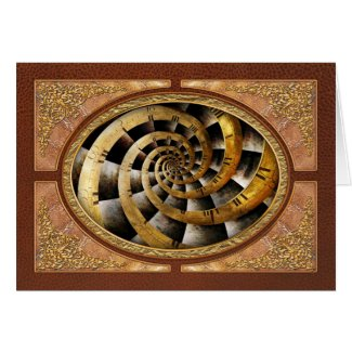 Steampunk - Clock - The flow of time Greeting Card