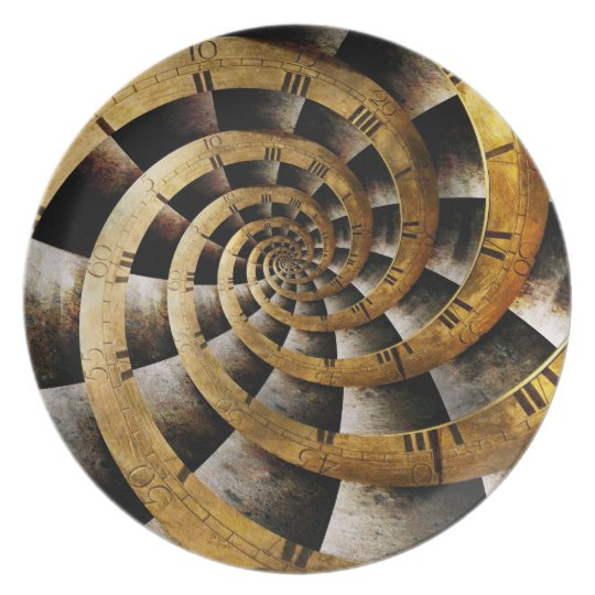 Steampunk - Clock - The flow of time Plate