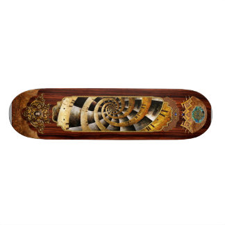 Steampunk - Clock - The flow of time Skateboard Deck