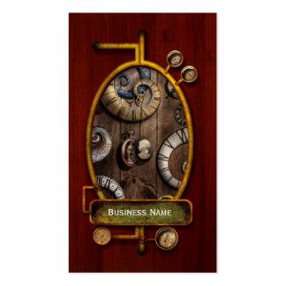 Steampunk - Clock - Time machine Business Card Templates