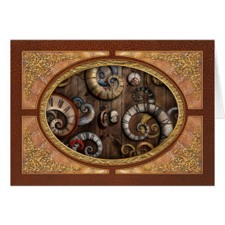 Steampunk - Clock - Time machine Card