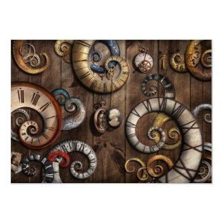 Steampunk - Clock - Time machine 5x7 Paper Invitation Card