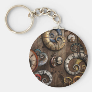 Steampunk - Clock - Time machine Keychain