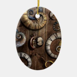 Steampunk - Clock - Time machine Christmas Tree Ornaments