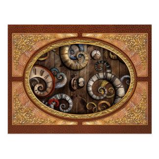 Steampunk - Clock - Time machine Postcards