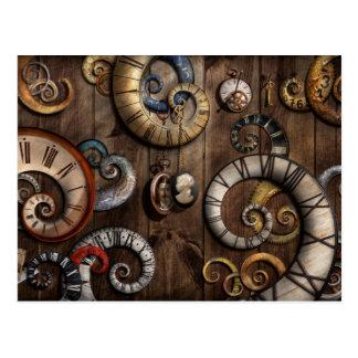 Steampunk - Clock - Time machine Post Cards