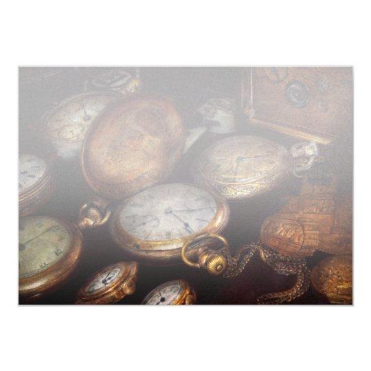 Steampunk - Clock - Time worn Card
