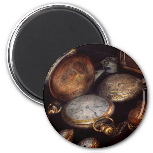 Steampunk - Clock - Time worn Fridge Magnets