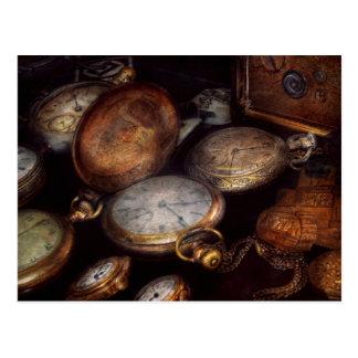 Steampunk - Clock - Time worn Postcard