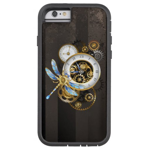 Steampunk Clock with Mechanical Dragonfly Tough Xtreme iPhone 6 Case