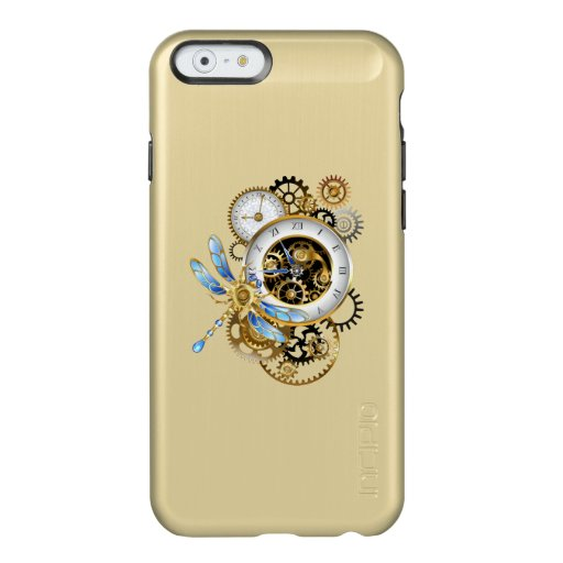 Steampunk Clock with Mechanical Dragonfly Incipio Feather Shine iPhone 6 Case