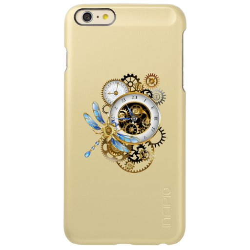 Steampunk Clock with Mechanical Dragonfly Incipio Feather Shine iPhone 6 Plus Case