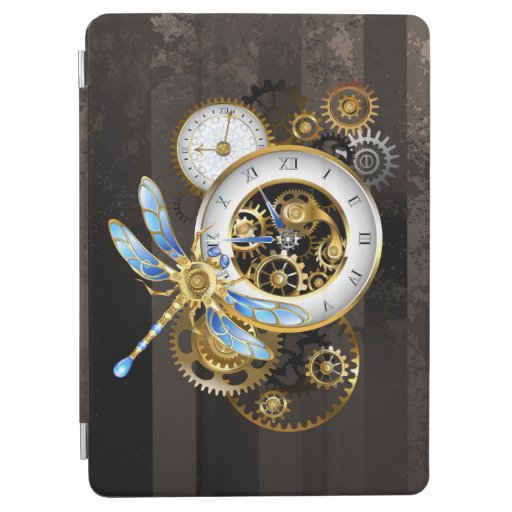 Steampunk Clock with Mechanical Dragonfly iPad Air Cover