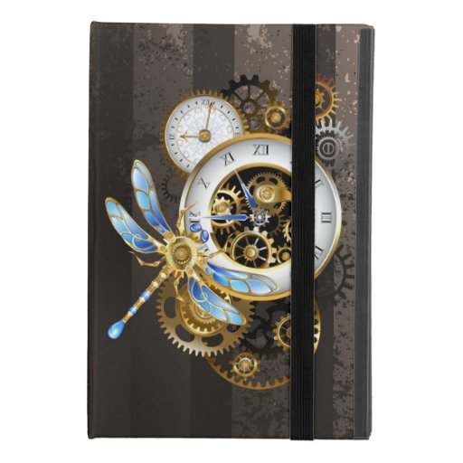 Steampunk Clock with Mechanical Dragonfly iPad Mini 4 Case