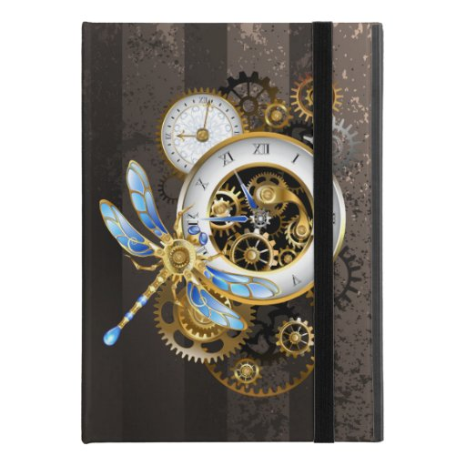 "Steampunk Clock with Mechanical Dragonfly iPad Pro 9.7"" Case"