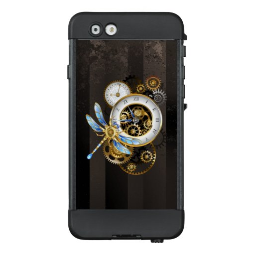 Steampunk Clock with Mechanical Dragonfly LifeProof NÜÜD iPhone 6 Case