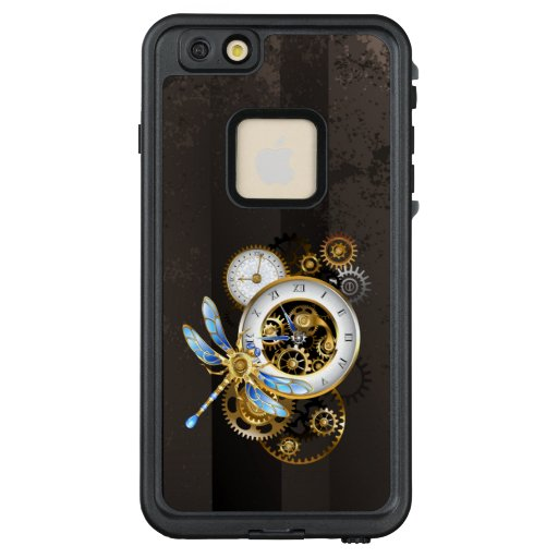 Steampunk Clock with Mechanical Dragonfly LifeProof FRĒ iPhone 6/6s Plus Case