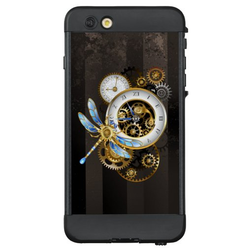 Steampunk Clock with Mechanical Dragonfly LifeProof NÜÜD iPhone 6 Plus Case