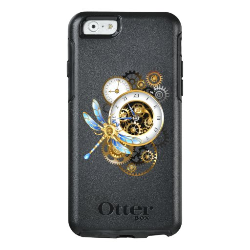 Steampunk Clock with Mechanical Dragonfly OtterBox iPhone 6/6s Case