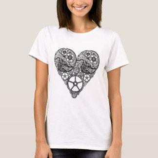 Steampunk  Clock Works and Gear Heart T-Shirt