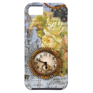 Steampunk Clock & Yellow Roses iPhone 5 Covers