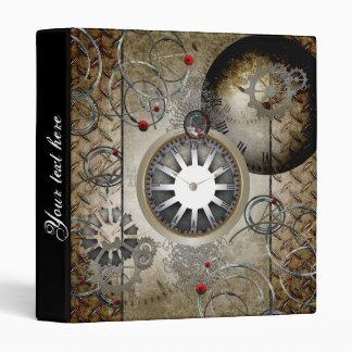 Steampunk, clocks and gears 3 ring binder