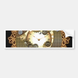 Steampunk, clocks and gears bumper sticker