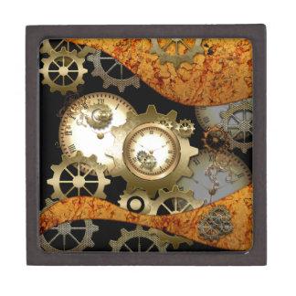 Steampunk, clocks and gears keepsake box