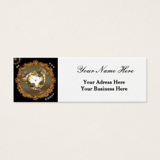 Steampunk, clocks and gears mini business card