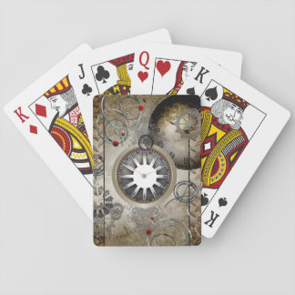 Steampunk, clocks and gears playing cards